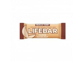 BIO Lifebar karobová s lískovými oříšky tyčinka RAW 47g Lifefood