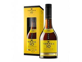 Torres brandy 10 yo Gran Reserva 0,7l v dárkovém balení se skleničkou