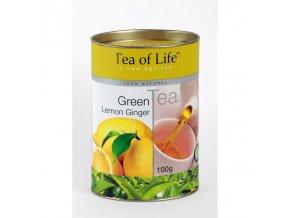 Čaj Tea of Life Zelený čaj citron, zázvor sypaný 100 g