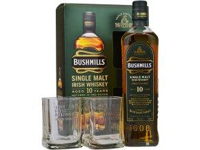 bushmills 10yo single malt whiskey with 2 glasses gift pack