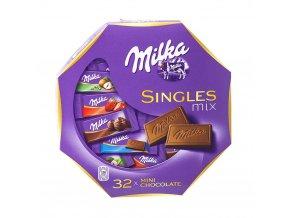 Bonboniéra Milka Singles mix - 32ks čokolád 4,7g