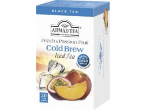 Černý ledový čaj Cold Brew Broskev passion fruit 20ks Ahmad Tea