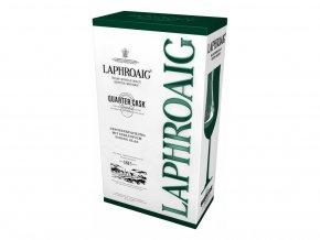 Laphroaig Quarter Cask dárkové balení se skleničkou 0,7 l