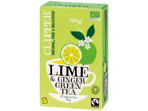 BIO Čaj Clipper Organic Lime and Ginger Green Tea - Zelený čaj s limetkou a zázvorem 20 sáčků