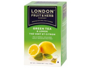 Čaj Green Tea and Lemon - zelený čaj s citrónem 20 sáčků London fruit and herbs