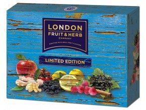 Čaj Limited edition pack blue - směs ovocných čajů modrý box 30 sáčků London fruit and herbs