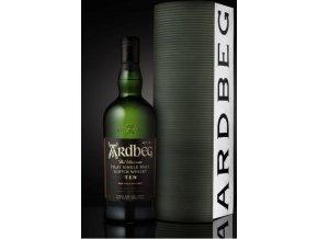 Whisky Ardbeg 10YO v dárkovém balení v podobě skladu palírny 46% 0,7l