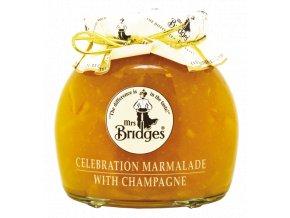 Celebration Marmalade and Champagne - Zavařenina Pomeranč se šampaňským 340g Mrs Bridges