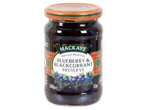 Blueberry and Blackcurrant Preserve - Džem z borůvek a černého rybízu 340g Mackays
