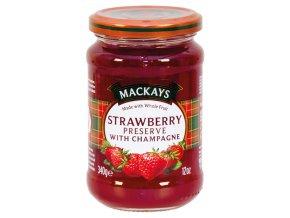 Strawberry With Champagne Preserve - Jahodový džem se šampaňským vínem 340g Mackays
