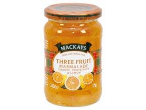 Three Fruit Marmalade - Pomerančová zavařenina s grapefruitem a citrónem 340g Mackays