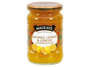 Orange Lemon and Ginger Marmalade - Zavařenina pomeranč citrón zázvor 340g Mackays