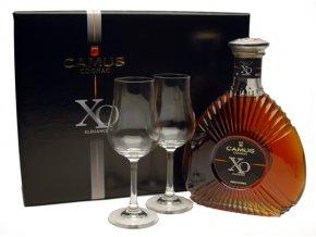 Camus XO Elegance dárkové balení se 2 skleničkami 40% 0,7l