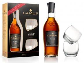 Cognac Camus VSOP Elegance v dárkovém balení se 2 skleničkami 40% 0,7l