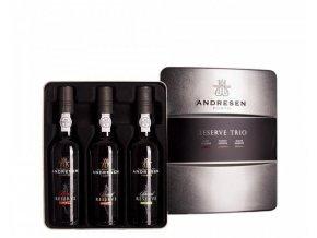 Sada portských vín Andresen trio v plechu 3x0,375l