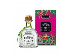 Tequila Patron Silver Mexican 0,7 l dárkové plechové balení