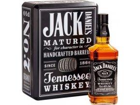 Jack Daniels dárkové plechové balení 0,7 l + 2x sklenička