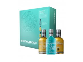 bruichladdich wee laddie tasting collection with bottles v1
