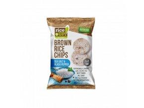 Rýžové chipsy mořská sůl a pepř 60g Rice Up