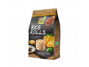 Rýžové minichlebíčky italský sýr a olivový olej 50g Rice Up