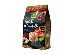 Rýžové minichlebíčky pizza a olivový olej 50g Rice Up