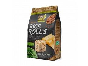Rýžové minichlebíčky špenátovo-sýrové s olivovým olejem 50g Rice Up