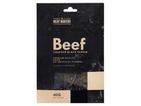 meat makers beef jerky cracked black pepper 40 g