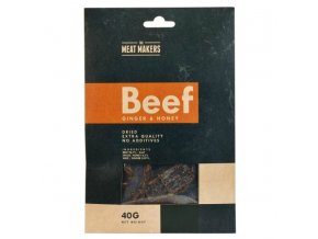 meat makers beef jerky ginger honey 40 g