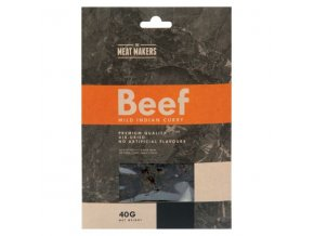 meat makers beef jerky mild indian curry 40 g