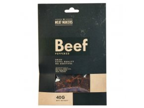 meat makers beef jerky peppered 40 g