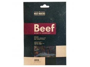 meat makers beef jerky wine cherries 40 g