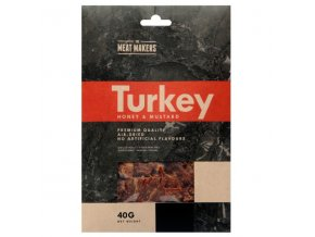 meat makers turkey jerky honey mustard 40 g