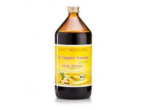 zazvorovo ananasovy sirup s kurkumou bio sanct bernhard 1000 ml
