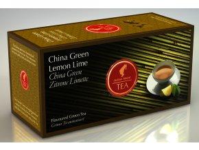 Prémiový čaj Zelený čaj s citrónem a limetkou 25x1,75 g Julius Meinl