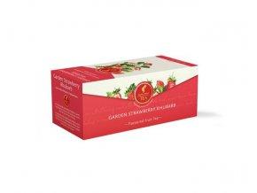 Prémiový čaj Garden Strawberry Rhubarb - zahradní jahody a rebarbora 25x1,75 g Julius Meinl