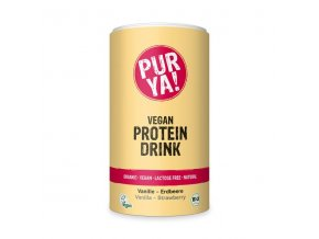 purya bio vegan protein drink vanilka jahoda 550 g