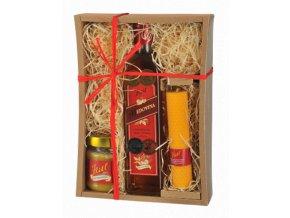 Medový balíček - Medovina na zahřátí 0,5l Kitl dárkové balení s medem a svíčkou