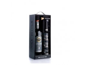 Beluga Gold Line Vodka 0,7 l dárkové balení se skleničkami