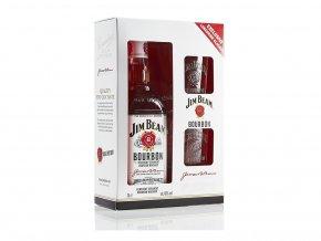 Jim Beam White 0,7 l dárkový box se skleničkami