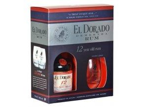 Rum El Dorado 12 letý 0,7l dárková kazeta se skleničkami