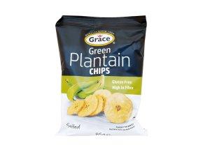 Grace Green Plantain Chips Salted - Banánové chipsy solené 85g