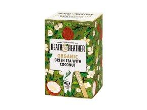 BIO Čaj Organic Green Tea & Coconut - zelený čaj s kokosem 20 sáčků Heath and Heather