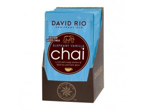 Elephant Vanilla Chai - sáčky display 12 x 28g David Rio