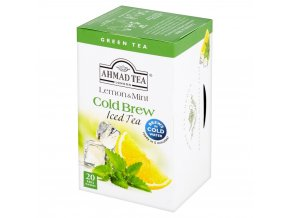 Zelený ledový čaj Cold Brew Citrón Máta 20ks Ahmad Tea