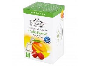 Zelený ledový čaj Cold Brew Mango Litchi 20ks Ahmad Tea