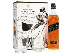 Johnnie Walker Black Label 12YO v dárkovém balení se 2 skleničkami 40% 0,7l