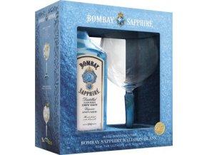Bombay Sapphire v dárkovém balení se skleničkou 40% 0,7l