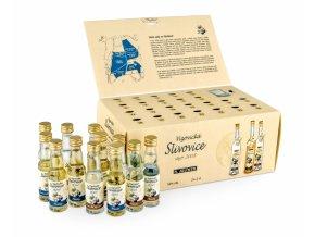 Vizovická Slivovice adventní kalendář v dárkovém balení se skleničkou 50% 24x0,02l Rudolf Jelínek