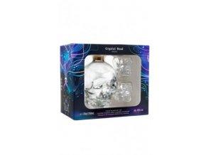 Vodka Crystal Head v dárkovém balení se 4 panáky 40% 0,7l