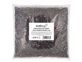 Himalájská sůl černá Kala Namak hrubá 5Kg Wolfberry